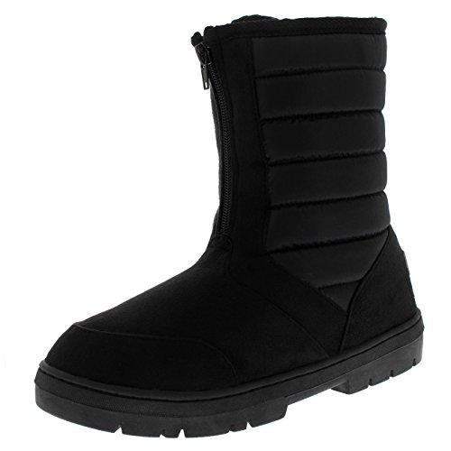 Womens Classic Cosy Warm Comfy Snow Winter Mid Calf Boots - Black - US9/EU40 - (Cosy Winter Warmer)