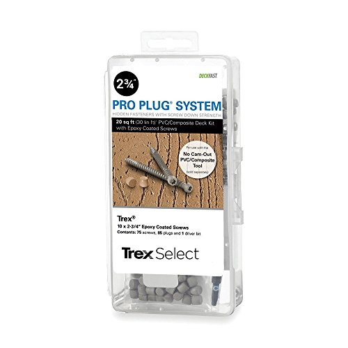 Pro Plug PVC Plugs and Epoxy Screws for Trex Woodland Brown, 85 Plugs for 20 sq ft, 75 Epoxy Screws by Pro Plug (Image #2)