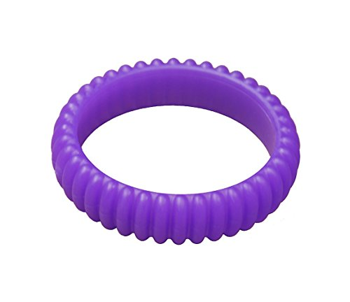 (KidKusion Gummi Teething Bracelet Cable, Purple)