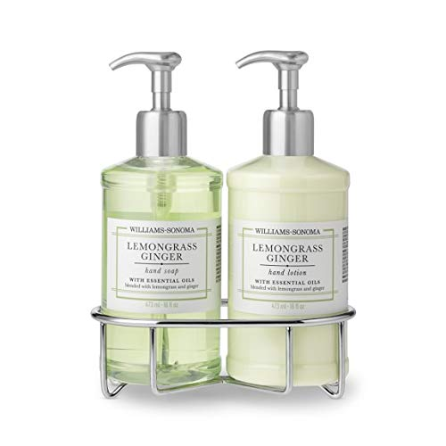 Williams Sonoma Lemongrass Ginger hand soap and lotion deluxe (Ginger Soap Lotion Dispenser)