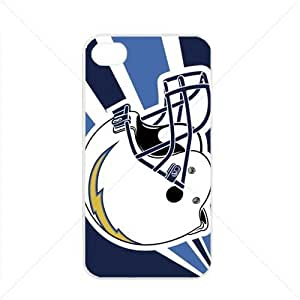 NFL American football San Diego Chargers Fans Apple iPhone 4 / 4s pc hard hard Black or White case (White)