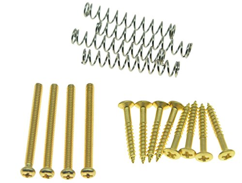 KAISH Imperial/USA Thread Humbucker Pickup Height Screws Humbucker Pickup Ring Pickup Surround Frame Mounting Screws Springs Fits Gibson/EMG/Seymour Duncan/Dimarzio Gold