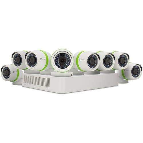 EZVIZ FULL HD 1080p Outdoor Surveillance System, 8 Weatherpr