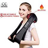 Dr Recommends Shiatsu Neck Shoulder Back Massager With Heat, Deep Tissue 3D Kneading Pillow Electric Massage At Office Home Car For Muscles Pain Relief Relax, Present Gift for Mom Dad Men Women