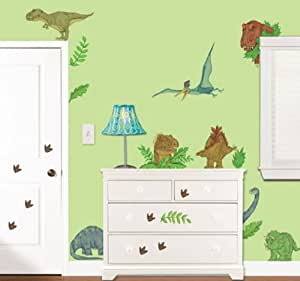 Borders Unlimited In Dinosaur Land Repositionable Peel & Stick Wall Sticker Appliques