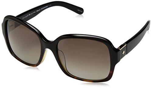 Kate Spade Women's Annora/p/s Polarized Aviator Sunglasses, Black Havana, 54 mm