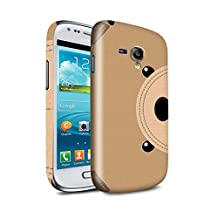 STUFF4 Gloss Hard Back Snap-On Phone Case for Samsung Galaxy S3 Mini / Bear Design / Animal Stitch Effect Collection