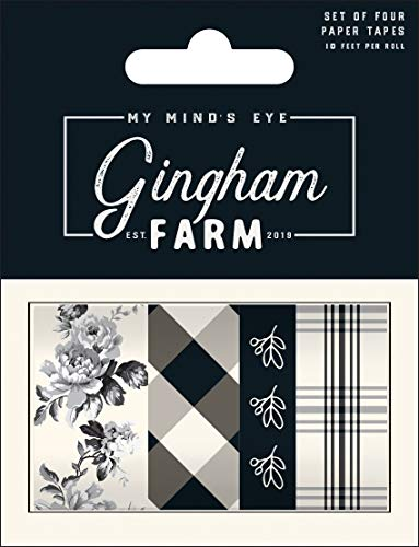 Gingham Farm Washi 4/pkg-10' Per Roll ()