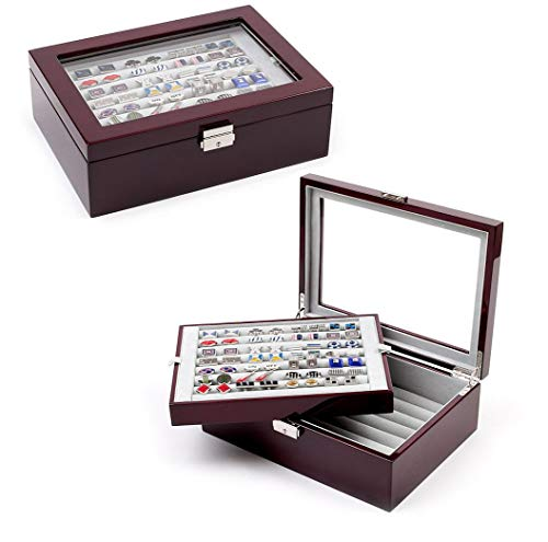 Mahogany Deluxe Collector's Storage Box/Case - Cufflinks by Cuff-Daddy