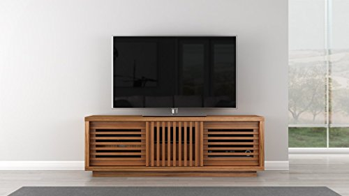 Furnitech Contemporary Rustic TV Stand Media Console for Flat Screen and Audio Video Installations, 64