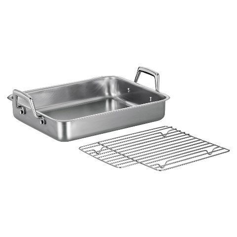 New 13.5 inch Roasting Pan with Basting Grill
