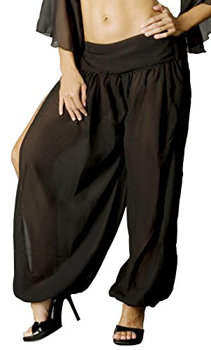 Adult Women's Plain Harem Pants Black (Arabian Nights Dance Costume)