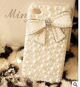 High Quality Pearl Diamond Bow Case Cover for Iphone 5 5s Delivered in 10 Business Days
