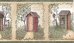 Linda Spivey Outhouses themed bathroom Collection by Chesapeake (Themed Collections)