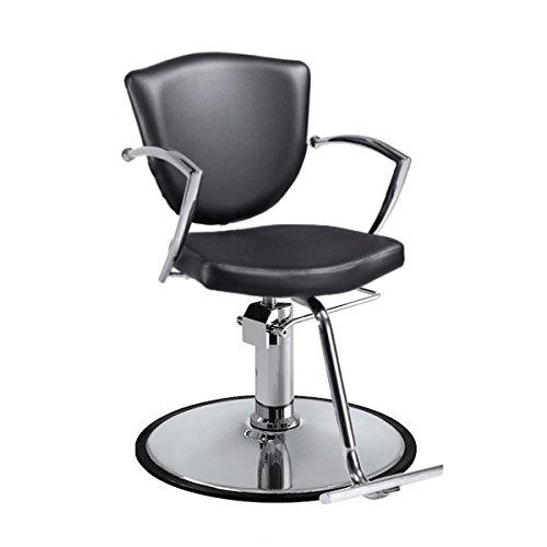Standish Salon Goods Veronica Hair Salon Chair, Black, 24.5'' H x 22.5'' W x 20'' D, 2 Year Warranty by Standish Salon Goods