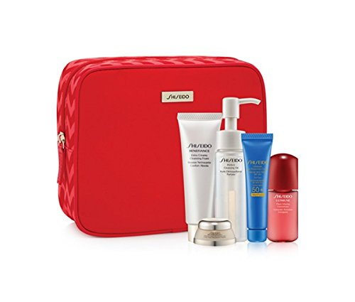 (Shiseido Bio-Performance Skincare 6 Pcs Gift Set: Benefiance Extra Creamy Cleansing Foam 30mL; Bio-Performance Advanced Super Revitalizing Cream 7mL; Perfect Cleansing Oil 40mL; Ultimate Sun Protection Cream SPF 50+ WetForce)