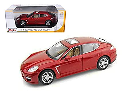 Maisto 2011 Porsche Panamera Turbo Dark Red 1/18 Model Car