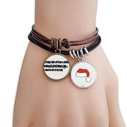 - DIYthinker Swerve Out of My Way Christmas Hat Rope Bracelet Wrap Bangle