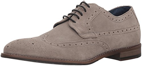 Rush By Gordon Rush Mens Auden Wingtip Derby Oxford Grigio Camoscio