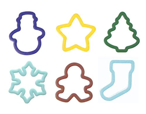 WILTON Grippy Cookie Cutter Set Of 6 - Christmas - New Colors