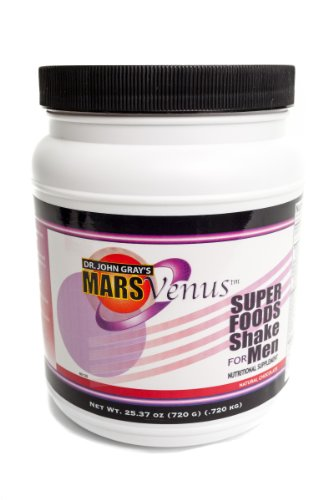 Super Food Shake for Men and Boys with Undenatured Whey Protien for Weight Loss, Memory and Brain Performance by John Gray's MarsVenus