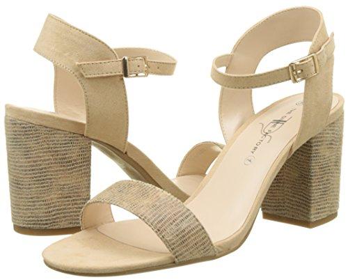 Sandales Femme Amanda Factory The Cheville Bride Divine beige Beige CtqC4