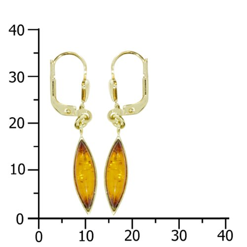 In Collections - OS05821 - Boucles d'Oreilles Pendantes Femme - Or jaune 333/1000 (8 carats) 2.4 Gr