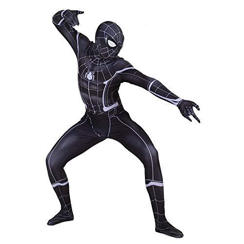 Black Civil War Spider-Man Costume Adult Kids Cosplay Spandex Bodysuit