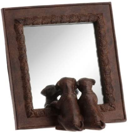 RAZ Brown Decorative Dog Mirror