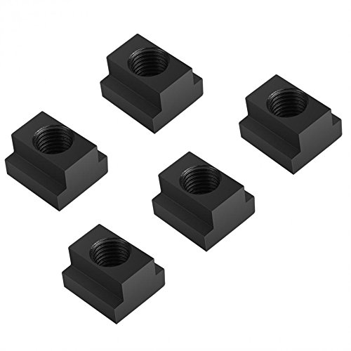 5pcs M16 Thread T Slot Nuts Clamping Table T-slots Nut Fastener Hardware For T-slots In Machine Tool Tables Black Oxide Finish