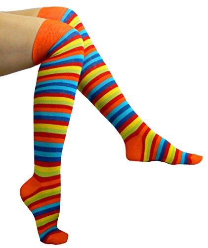 Chapini® - Calcetines - Rayas - para mujer ASR1 - Orange Top