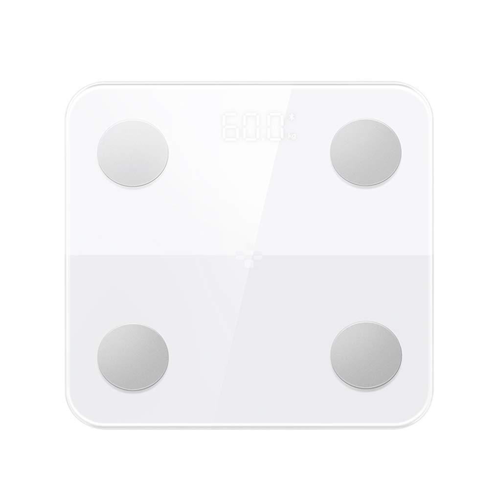 LCSHAN 家庭用電子体重計スケール大人用体重減少型電子体重計 (色 : 白) B07G8Z9PN3 白