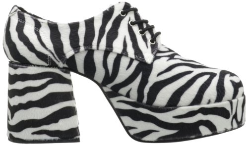 Funtasma Di Pleaser Mens Jazz-02 Platform Oxford Zebra Fur