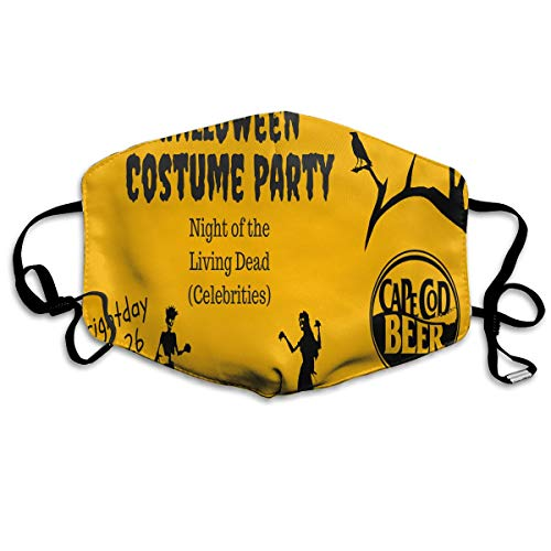 (Unisex Halloween Costume Party Warm Fashion Washable Mouth Mask,Anti-dust Face Mask for Men and)