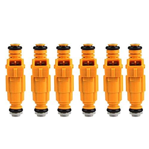 Kinbelle 6pcs EV1 FuelInjectors 4 Hole 0280155700 For Jeep 4.0L Type III 19LB TJ XJ YJ ZJ US