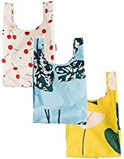 BAGGU Small Reusable Shopping Bag, Ripstop Nylon Grocery Tote or Lunch Bag