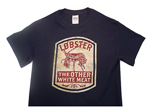 Outhouse Designs (Outhouse Designs Mens Spiney Lobster White Meat Shirt M Navy)