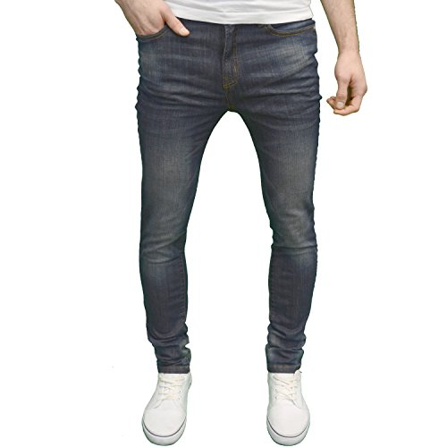New AFS Flex Mens Designer Branded Skinny Fit Stretch Jeans Available 4 Colours for sale