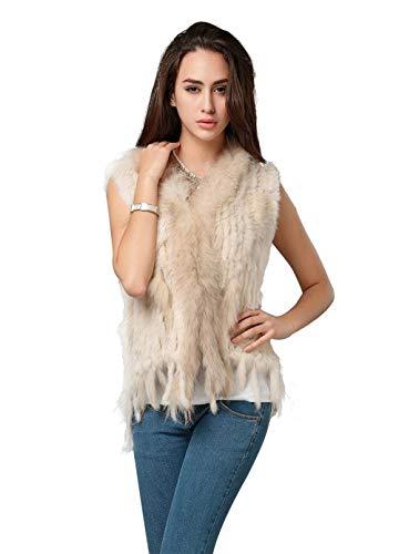 Invierno Grande Sintética Sleeveless Elegantes Mujer Chaquetas Outerwear Vest Termica Ropa De Abrigos Otoño Borlas Beige Chaleco Chalecos Piel Adelina Talla Cómodo qXzp7n