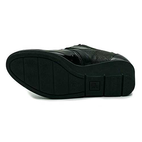 Pitillos Velcro Zapato Mujer Negro Con 1227 Ypqwp