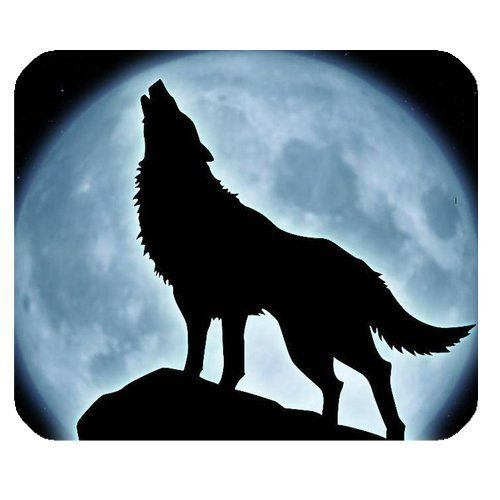 Howling Wolf and Bright Moon Personalized Custom Gaming Mouse Pad Rubber Durable Computer Desk Stationery Accessories Mouse Pads For Gift (Desk Mat Naruto)