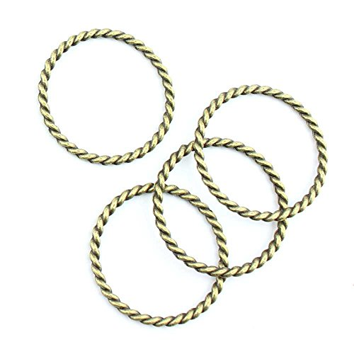 (60 Pieces Jewelry Making Charms Twisted Circle pendant wholesale supplies repair)
