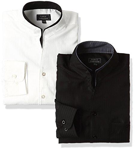 シーズンによって禁止する(フランココレツィオーニ) Franco collezioni 二重変化衿ドレスシャツ2枚組 50238