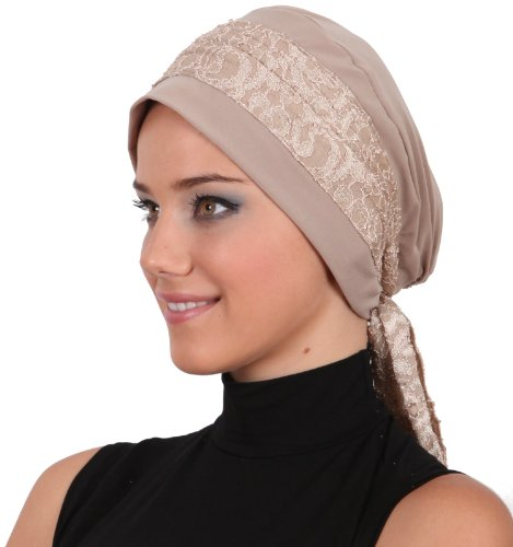 Lace Embroidered Headwear (Beige)