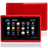 تابلت وينتتش Q75S للأطفال 7 بوصة 8 جيجا ذاكرة رام 512 ميجابايت اندرويد واي فاي تابلت اللون الأحمر