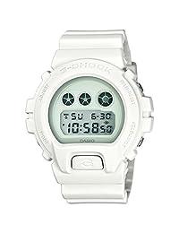 Casio DW6900WW-7 Men's G-Shock Digital Grey Dial White Resin Strap Alarm Dive Watch