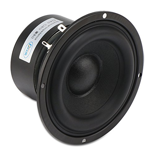 DROK 4 Inches 8 Ohm Full-Range Stereo Audio Speakers, 40W Portable HiFi Speakers DIY Loudspeaker Woofer for Desktop Computer Car Auto Motor Motorcycle