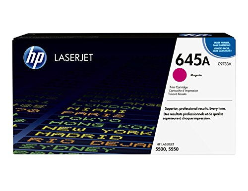 (HP 645A (C9733A) Magenta Toner Cartridge for HP Color LaserJet 5500 5550)