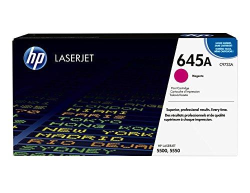 HP 645A (C9733A) Magenta Toner Cartridge for HP Color LaserJet 5500 5550 (Hp 5500dn Color Laser Printer)