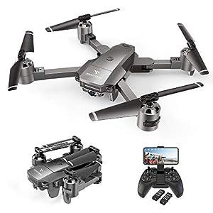 SNAPTAIN A15F Drone avec Caméra 1080P FHD 120° Grand Angle, Positionnement de Flux Optique, Fonction Suivez-Moi, Vole…